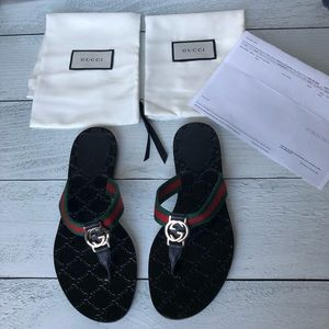 🌟Authentic Gucci GG Logo Sandal Sz 8.5